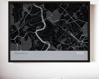 Personalised Rome City Street Map Print