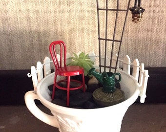 DIY Teacup Fairy Garden starter kit! Miniature garden for indoor home decor...