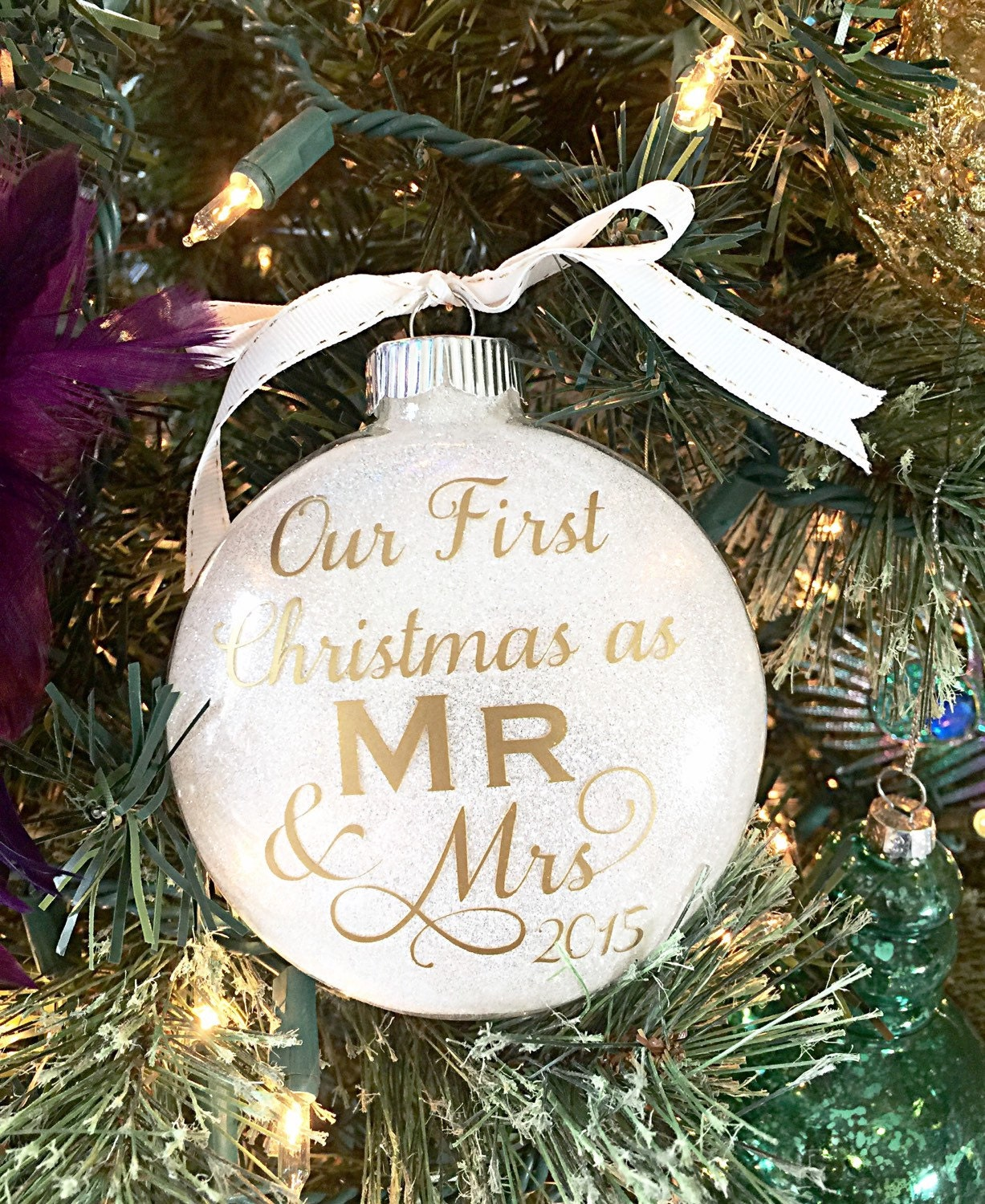 our first christmas ornament wedding present bridal shower