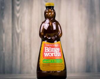 Large 24oz. Vintage Mrs. Butterworth's Syrup Glass Bottle
