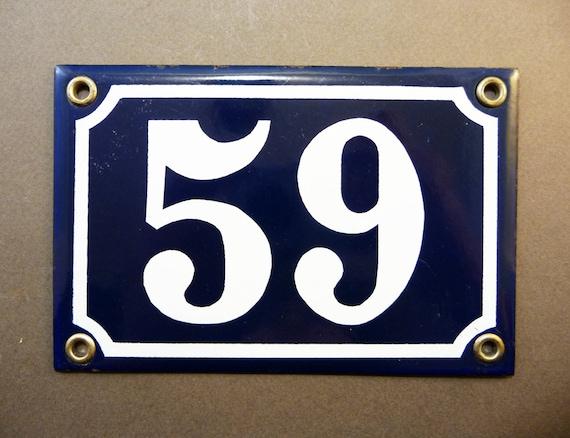 Plaque Maill E Bleue 59 Num Ro De Rue France De 1 216