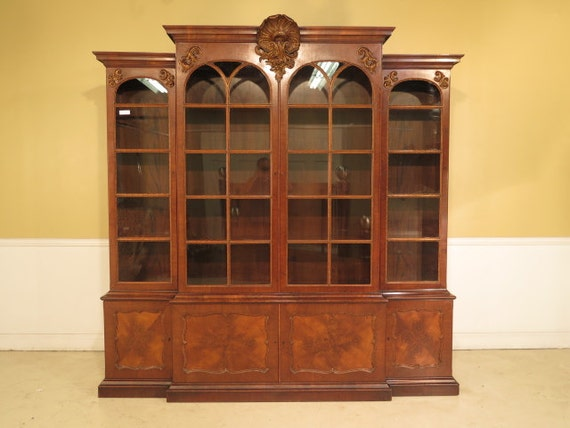 23602E: Monumental Antique Georgian Mahogany 4 Door Bookcase