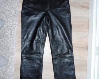 POINT ZERO leather pants size 34 (W24 US)