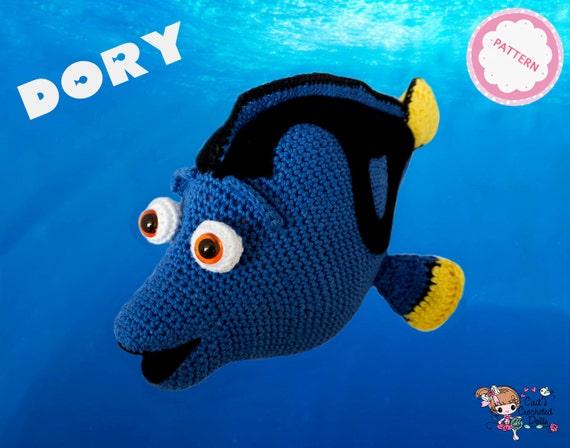 PATTERN crocheted Disney Pixar Finding Dory doll