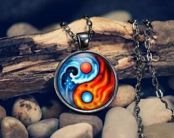 Yin Yang Pendant Necklace Yin And Yang Chinese Philosopy Mens Womens
