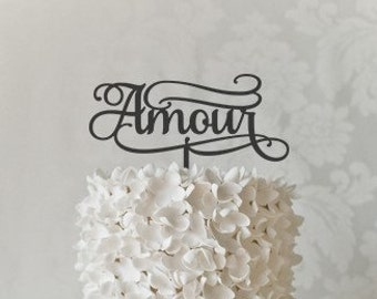 Amour Wedding Cake Topper - Keepsake Wedding Cake Toppers