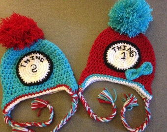 Thing one & Thing Two hats