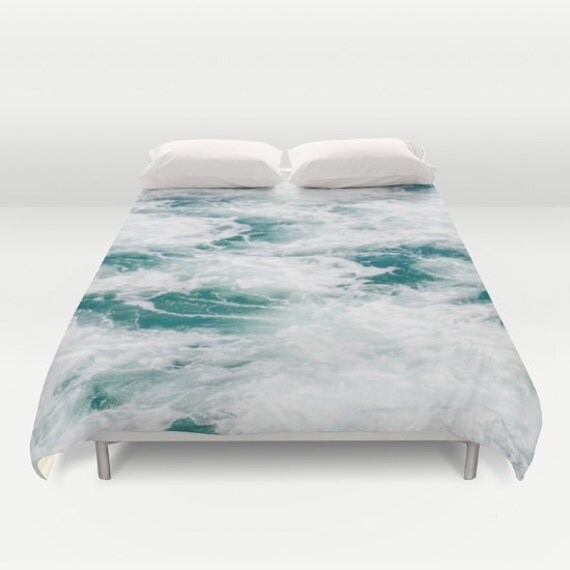Tropical Ocean Duvet Cover Water Bedding Aqua Sea Water