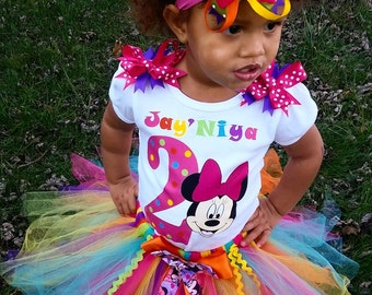 Minnie Mouse Tutu Set- Colorful