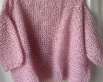 Pull loose pale pink Mohair