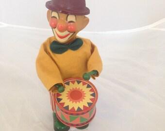 Wind-Up Tin Toy Clown