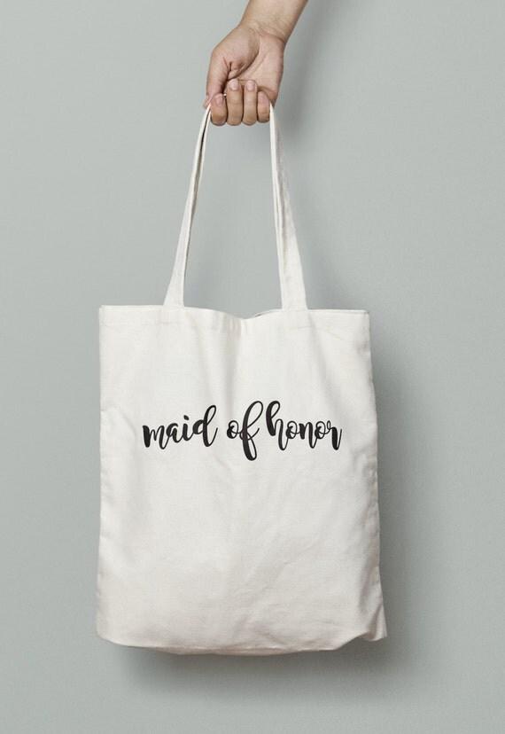 Maid of Honor Tote Bag, maid of honor, wedding tote, bridal party tote, bridal party gift, wedding welcome bag