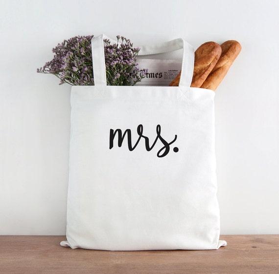Mrs, wife tote, Bride Tote Bag, Bride, Wedding, Wedding tote, Bride gift, mrs tote