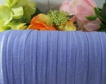 5 yds Purple Iris Fold Over Elastic Ribbon 5/8 inch=15 mm Hair ties Baby diapers trim  Headbands Lingerie trim Elastic Solid Color