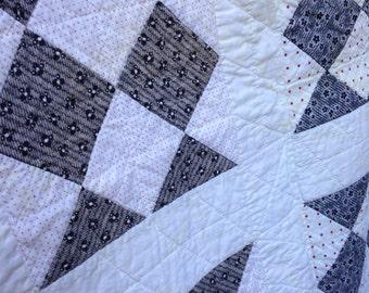 Antique black and white (rare) quilt
