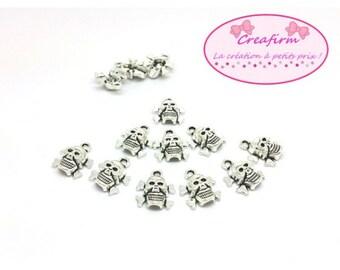 50 pendants skulls skeleton 14x13mm