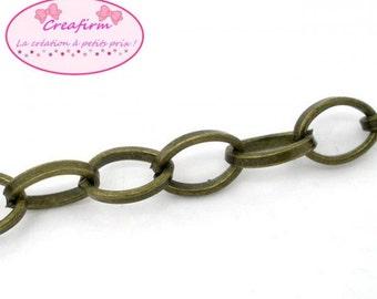 4 m chain Bronze oval 8x6mm links