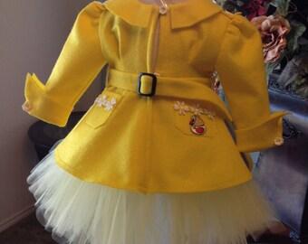 Picture Prop Morton Salt Inspired Toddler Yellow Rain Coat Size 18-24, Halloween, Party