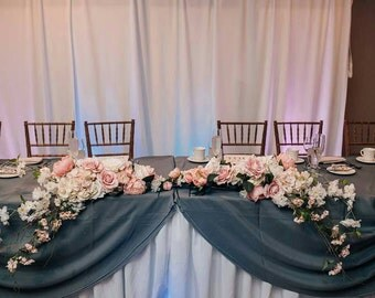 Romantic Pink and White Silk Flower Arch/Centerpiece