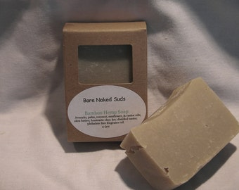 Bamboo Hemp Handmade Soap, Vegan, Cold Process
