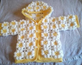 crochet daisy kids warmer