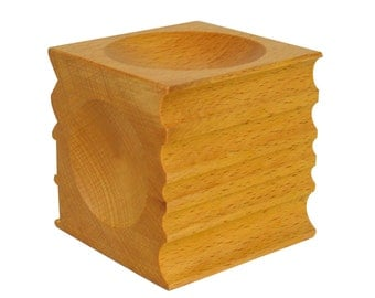 """Wooden Dapping Block 2.75"""" x 2.75"""" (70 mm x 70 mm) Jewelry Forming Precious Metal Clay Tool - FORM-0062"""