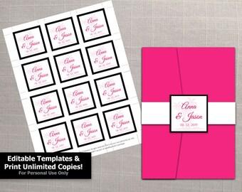 palm card template word - diy printable wedding thank you card template editable ms