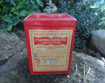 French vintage tin