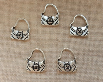 Satchel Charms X 5. Tote Bag Charms. Purse Charms. Shopping Charms. Bag Charms. Handbag Charms. Ladies charms. Tibetan Silver. UK Seller