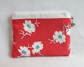 Vintage Flower Notions Pouch