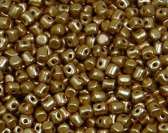 Minos par Puca Bead, Light Gold Matte, 5 grams, 2.5 x 3 mm, Czech Bead, (00030-01710)