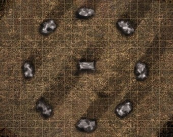 PVC Roleplay Mat 2'x2' ideal for D&D two images available with grid