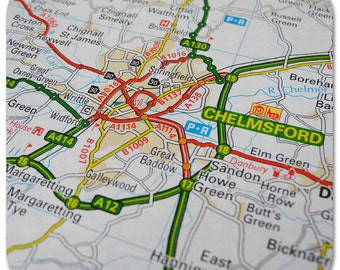 Chelmsford Map Coasters