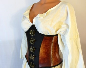 Leather Waist Cincher/Underbust Corset
