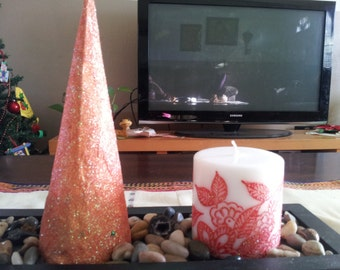 Hand Painted Candles,
