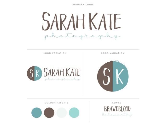Branding Package - Photography Logo and Watermark - Circle Monogram - Script - Logo Design - Watermark - Premade Marketing Kit - BPL13