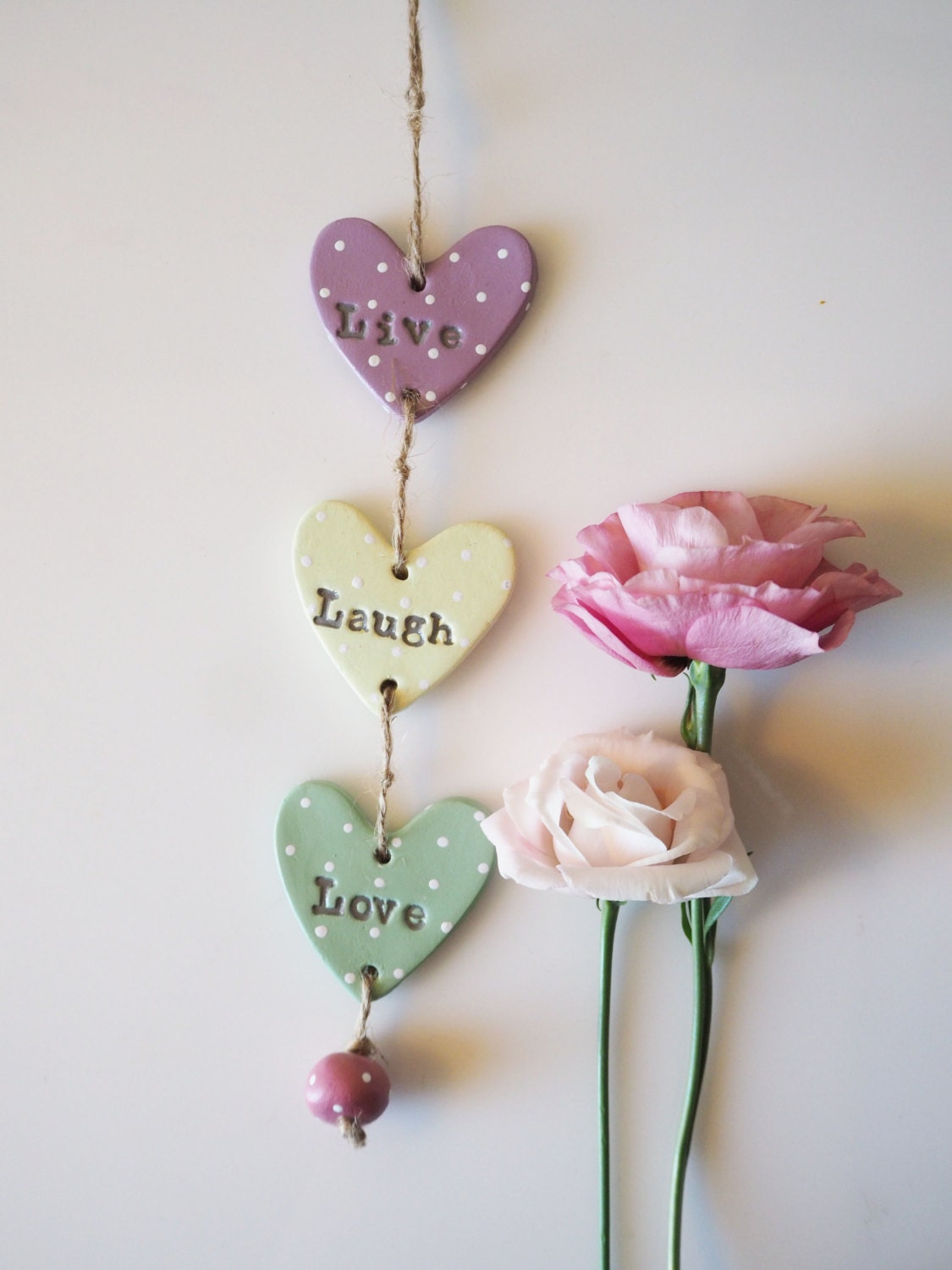 Live Laugh Love Sign Valentines Gift Shabby Chic Home Decor