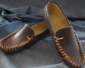 Bison Moccasin leather lined