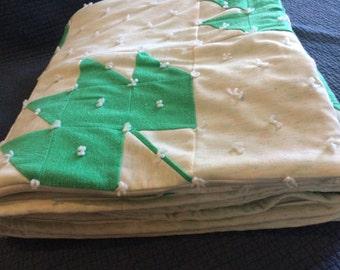 Vintage Patchwork Quilt/Leaf Quilt