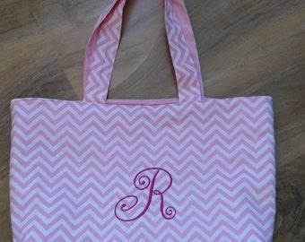 Monogrammed Tote, Monogrammed Beach Bag, Monogrammed Shoulder Bag, Monogrammed Diaper Bag