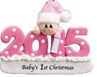 Baby's First Christmas 2015 Personalized Ornament