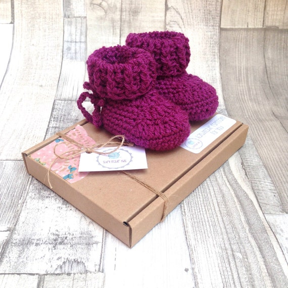 Baby booties baby boots crochet boots