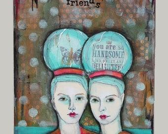 "My HeART's Journey - FINE ART PRINT - ""Friends"" - by Deanna Strachan Wilson - DSWilson"