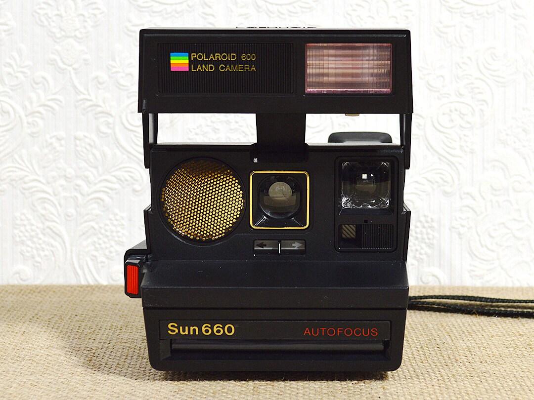 working polaroid sun 660 autofocus camera film tested 600. Black Bedroom Furniture Sets. Home Design Ideas