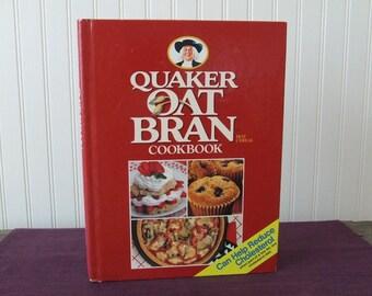 Quaker Oat Bran Cookbook, Vintage Cookbook, 1989