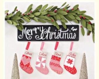 Joyful Stocking Ornaments Pattern by Cotton Way for Moda CW990G