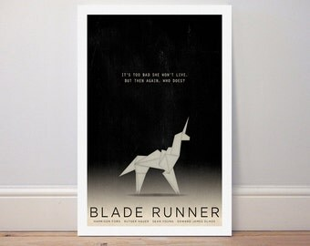 Movie poster Blade Runner 'Unicorn' colour print
