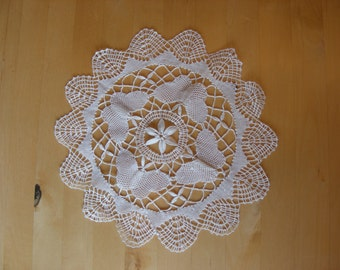 Pretty vintage doily with butterfly design