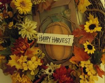 Happy Harvest Wreath