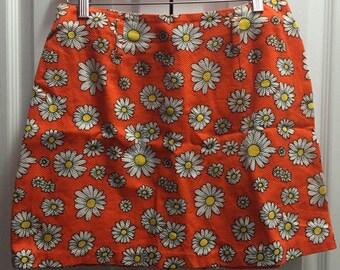 Orange Daisy Skirt